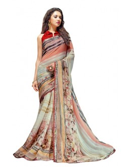 Ethnic Wear Multicolour Georgette Saree  - RKSALS623