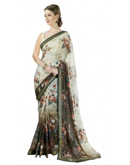 Casual Wear Multicolour Georgette Saree  - RKSALS631