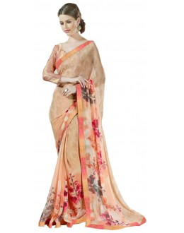 Ethnic Wear Multicolour Georgette Saree  - RKSALS632