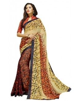 Casual Wear Multicolour Georgette Saree  - RKSALS633