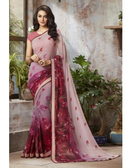 Pink Colour Georgette Designer Saree  - RKSALS807