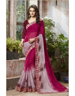 Ethnic Wear Pink Georgette Saree  - RKSALS815