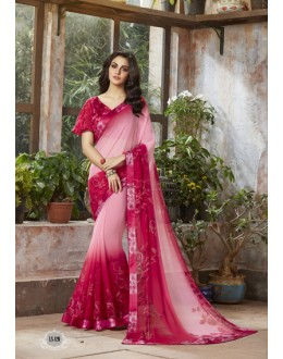 Pink Colour Georgette Printed Saree  - RKSALS820