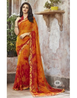 Ethnic Wear Yellow Georgette Saree  - RKSALS823