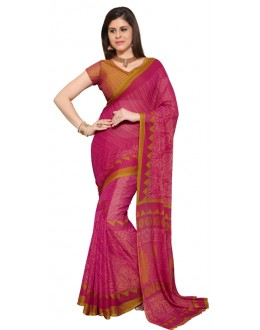 Casual Wear Pink Chiffon Saree - RKSG1536A