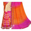 Casual Wear Multicolour Georgette Saree - RKSG1545