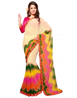 Casual Wear Multicolour Georgette Saree - RKSG1549