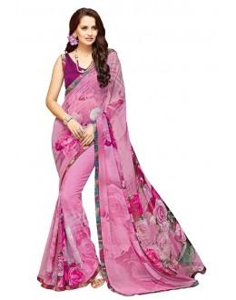 Party Wear Purple Georgette Saree - RKTMPC4414