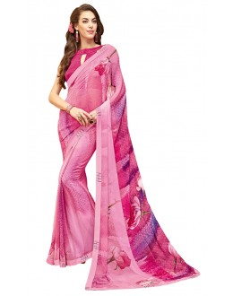 Ethnic Wear Pink Georgette Saree - RKTMPC4423