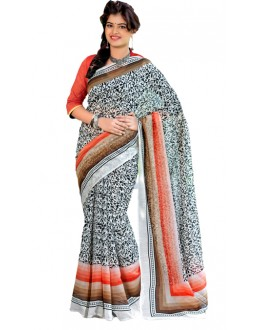 Casual Wear Multicolour Cotton Silk Saree  - RKVI7008
