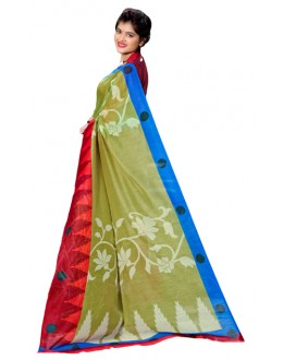 Ethnic Wear Multicolour Cotton Silk Saree  - RKVI7018