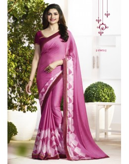 Prachi Desai In Pink Satin Saree  - RKVF17975