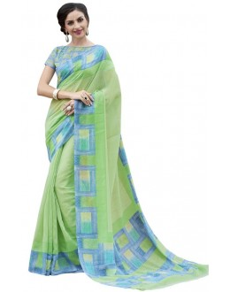 Casual Wear Green Cotton Silk Saree  - RKVI4003