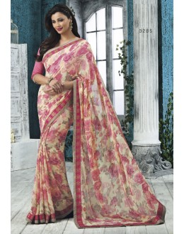Ethnic Wear Multi-Colour Georgette Saree  - RKVSL3285