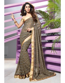 Party Wear Multi-Colour Georgette Saree  - RKVSL4943