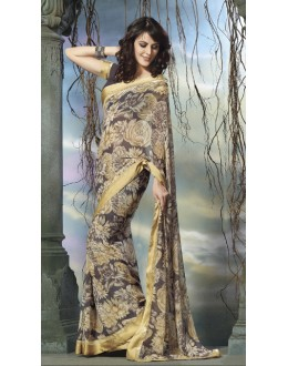 Multi-Colour Georgette Printed Saree  - RKVSL6981
