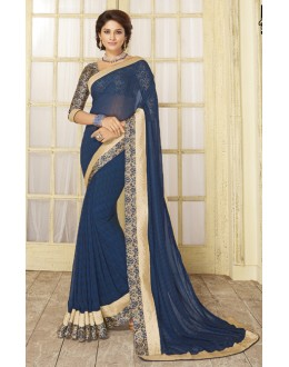 Festival Wear Blue Georgette Saree  - RKVSL8352
