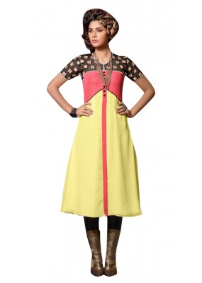 Fancy Readymade Multicolour Georgette Kurti - 60009