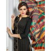 Designer Black & Beige Embroidered Chanderi Cotton Straight Party Wear Salwar Suit - 010 ( IS-Dairy Milk )