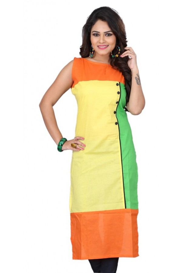 Party Wear Tri Color Kurti Tiranga - 106