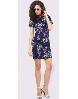 Party Wear Readymade Blue Western Dress - Zenny-1