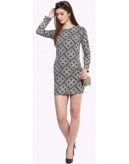 Party Wear Readymade Grey Western Dress - Zenny-4