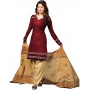 Casual Wear Beige Crepe Salwar Suit - 232
