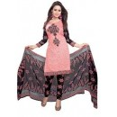 Casual Wear Peach Crepe Salwar Suit - 206