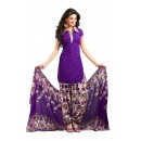 Party Wear Purple Crepe Salwar Suit - 229