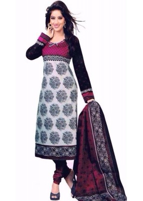 Party Wear Multicolour Crepe Salwar Suit - 228