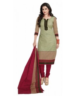 Party Wear Olive Green Crepe Salwar Suit - 227