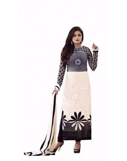 Party Wear White Crepe Salwar Suit - 224
