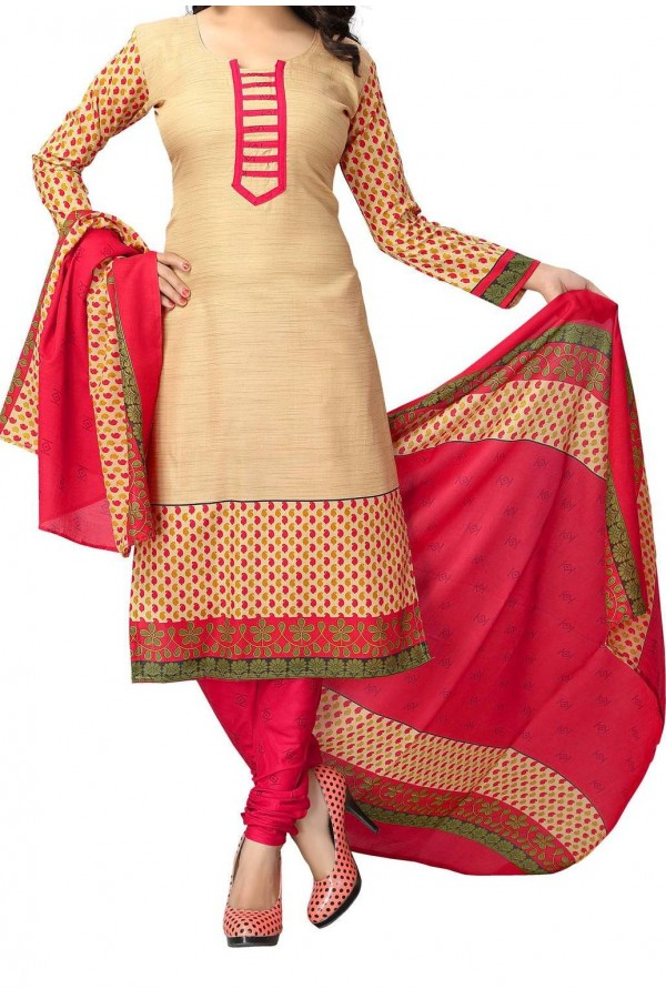 Party Wear Chiku Crepe Salwar Suit - 223