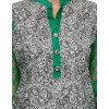 Designer Gray Green colour Neted Sleeves Causal  Wear Kurti - KRT6012 -Gry-Grn ( KHG-Kurti-1 )