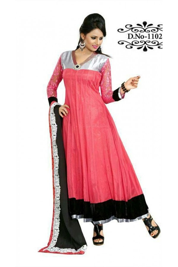 Bollywood Replica - Traditional Pink Anarkali Suit   - 1102