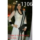 Bollywood Replica - Traditional White Anarkali Suit   - 1106