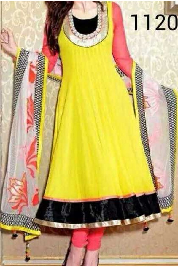 Bollywood Replica - Traditional Yellow Anarkali Suit   - 1120