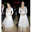 Bollywood Replica - Traditional White Anarkali Suit   - 1122