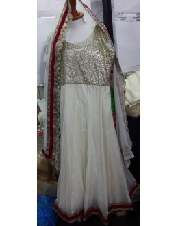 Bollywood Replica - Party Wear White Anarkali Suit   - 1123