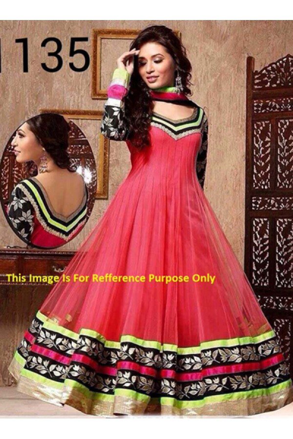 Bollywood Replica - Party Wear Pink Anarkali Suit   - 1135