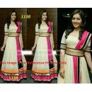 Bollywood Replica - Traditional White Anarkali Suit   - 1138