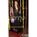 Bollywood Replica - Traditional Black Anarkali Suit   - 1140