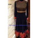 Bollywood Replica - Traditional Black Anarkali Suit   - 1144