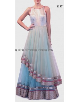 Bollywood Replica - Designer Blue Anarkali Suit   - 1157