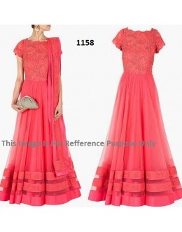 Bollywood Replica - Designer Peach Anarkali Suit   - 1158