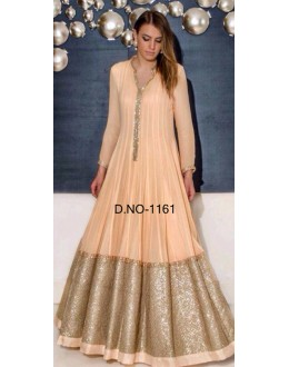 Bollywood Replica - Designer Cream Anarkali Suit   - 1161