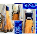 Bollywood Replica - Traditional Yellow Anarkali Suit   - 1162