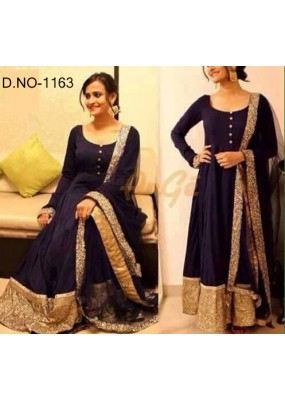 Bollywood Replica - Traditional Blue Anarkali Suit   - 1163