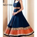 Bollywood Replica - Traditional Blue Anarkali Suit   - 1164