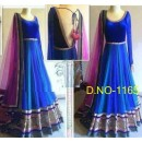 Bollywood Replica - Traditional Blue Anarkali Suit   - 1165